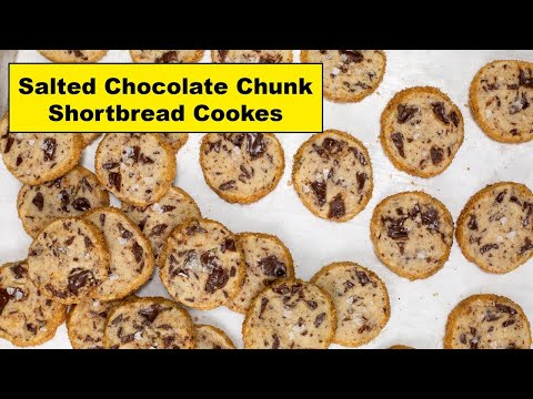 Recipes By Nora Salted Chocolate Chunk Shortbread Cookies Youtube