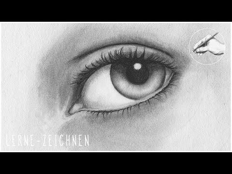 AUGE ZEICHNEN Teil 1 Iris und Pupille | how to draw a realistic eye realistisches Auge zeichnen