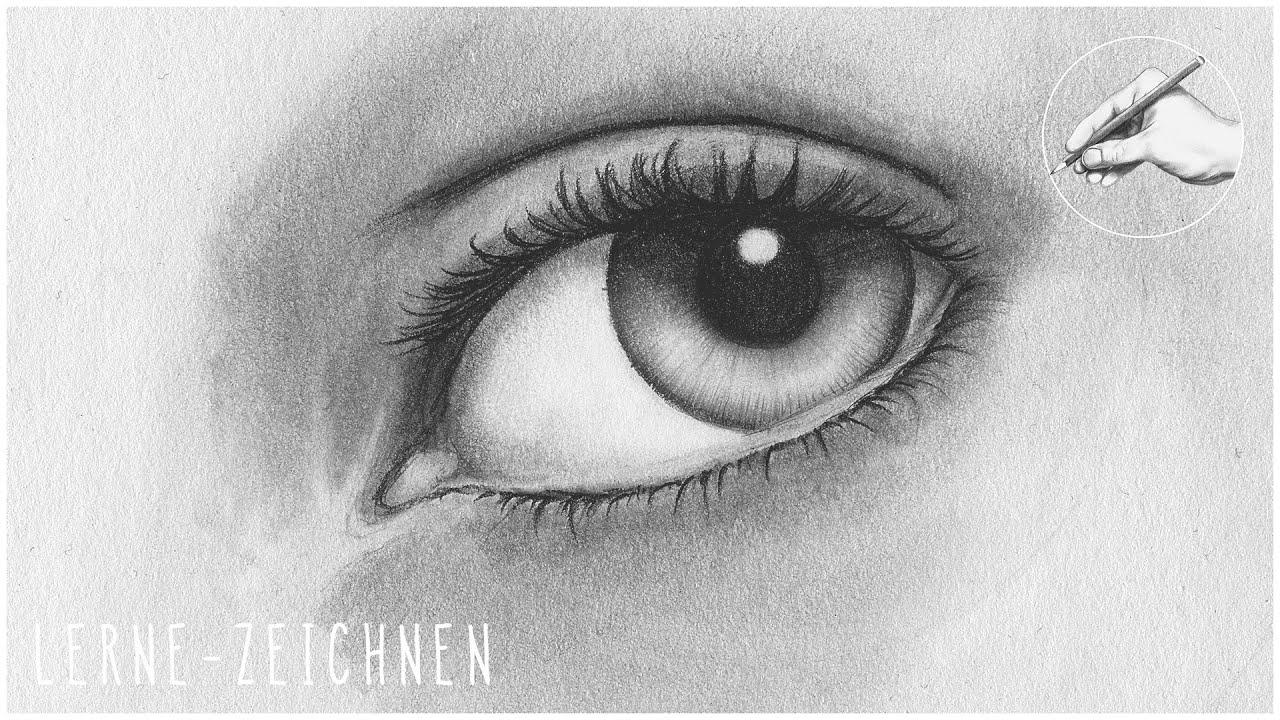 Auge Zeichnen Teil 1 Iris Und Pupille How To Draw A Realistic