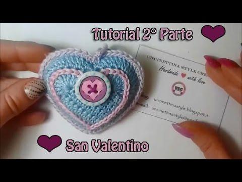 Tutorial Uncinetto Cuore Amigurumi : Cuore uncinetto amigurumi tutorial - San Valentino ...