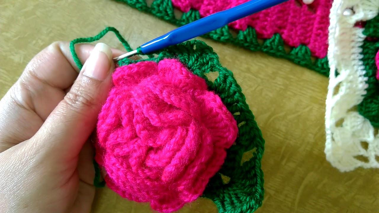 Crochet Rose Flower Toran In Marathi