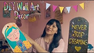 DIY Wall Decor Ideas / Melukis di Talenan / Galaxy Painting (Bahasa Indonesia)
