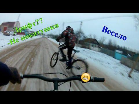 ДРИФТ на велике ЗИМОЙ)))
