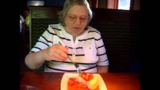 Strawberry Cheesecake at Red Lobster