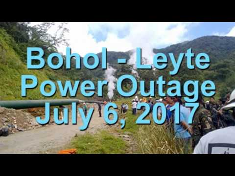 Bohol-Leyte Power Outage July 2017