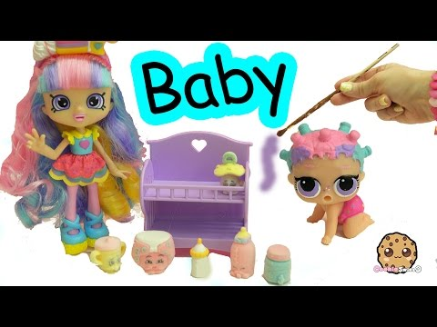 DIY Baby Shopkins Shoppies Rainbow Kate – LOL Surprise Painting Craft Video