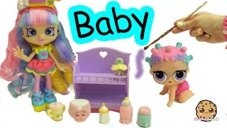 Diy Baby Shopkins Shoppies Rainbow Kate Lol Surprise Painting Craft Video