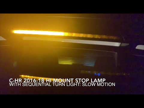 C-HR 2016-18 High Mount Stop Lamp With Aequential Turn Light: It's One Off Custom