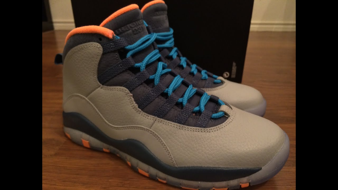 ed7cac6f5b32f3 ... free shipping jordan retro 10 bobcats on feet 7647c e0290