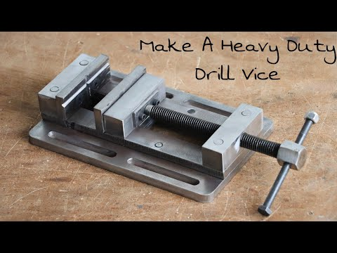 Make A Metal Heavy Duty Drill Press Vice || DIY Homemade Drill Vice