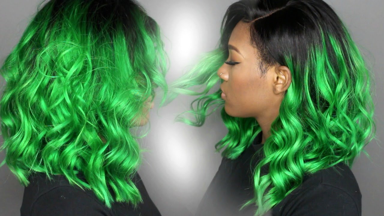 DIY | Forest Green Haircolor | MsJazzy2Classy - YouTube