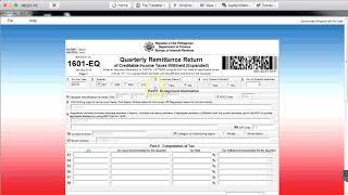 ⭐ BIR 1601EQ Quarterly New Form Updated 2018