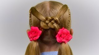 ✿ CELTIC KNOT ✿ Hair Tutorial. Quick and Easy hairstyle for little princess #53