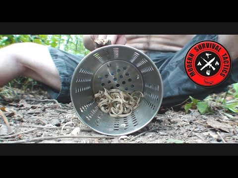 Military bug net & Tactical Cylinder / COOKING DEVICE TEST