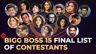 Bigg Boss 15 Contestants Final List   All Contestants Of Bigg Boss 15   BB15 Final List
