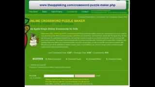 Online Crossword Puzzle Making :: How To Make A Crossword Puzzle For Kids