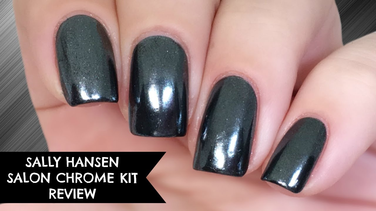 Sally Hansen Salon Chrome Kit Review | No Gel! - YouTube