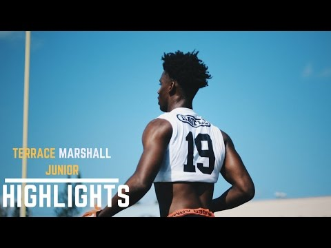 Terrace Marshall Jr Junior Year 5-Star WR Highlights Mix / Florida Finale Highlights / Parkway (LA)