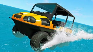 This Mod Caused The Biggest Glitch I've Ever Seen! Amphibious Car! - BeamNG Drive