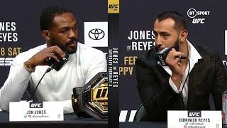 quotHe tickles my picklequot Jon Jones v Dominick Reyes UFC 247 press conference best bits