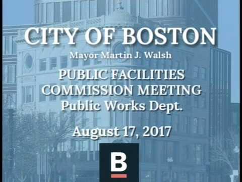 Public Facilities Commission Meeting: Public Works Department 8-17-17