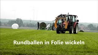 Rundballen in Folie wickeln (Hörsten 2017) - Musik: Summerjam 2003 - The Underdog Project