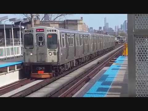 CTA Red Line train reroute along the Green Line route