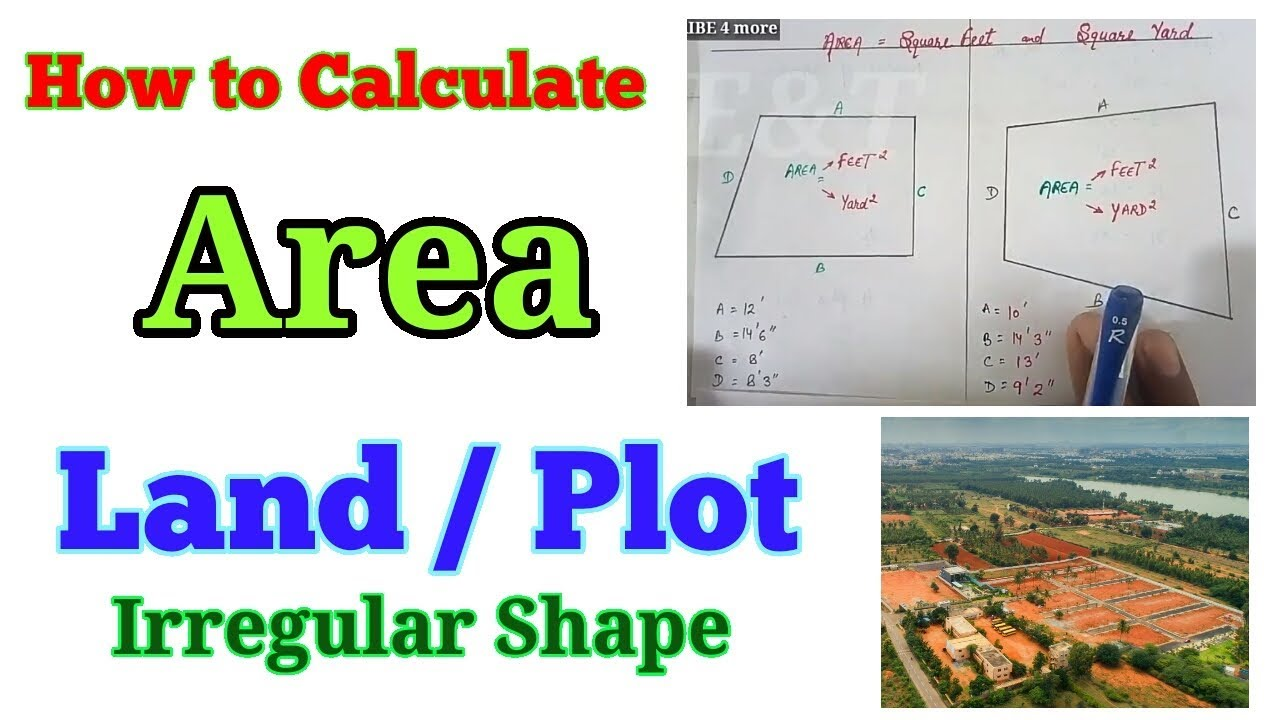 Irregular size plot area, irregular shape land area, how to calculate land  area, Plot area in feet