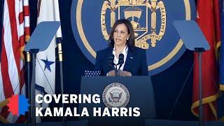 Harris cites challenges of 'fragile' world in Navy speech