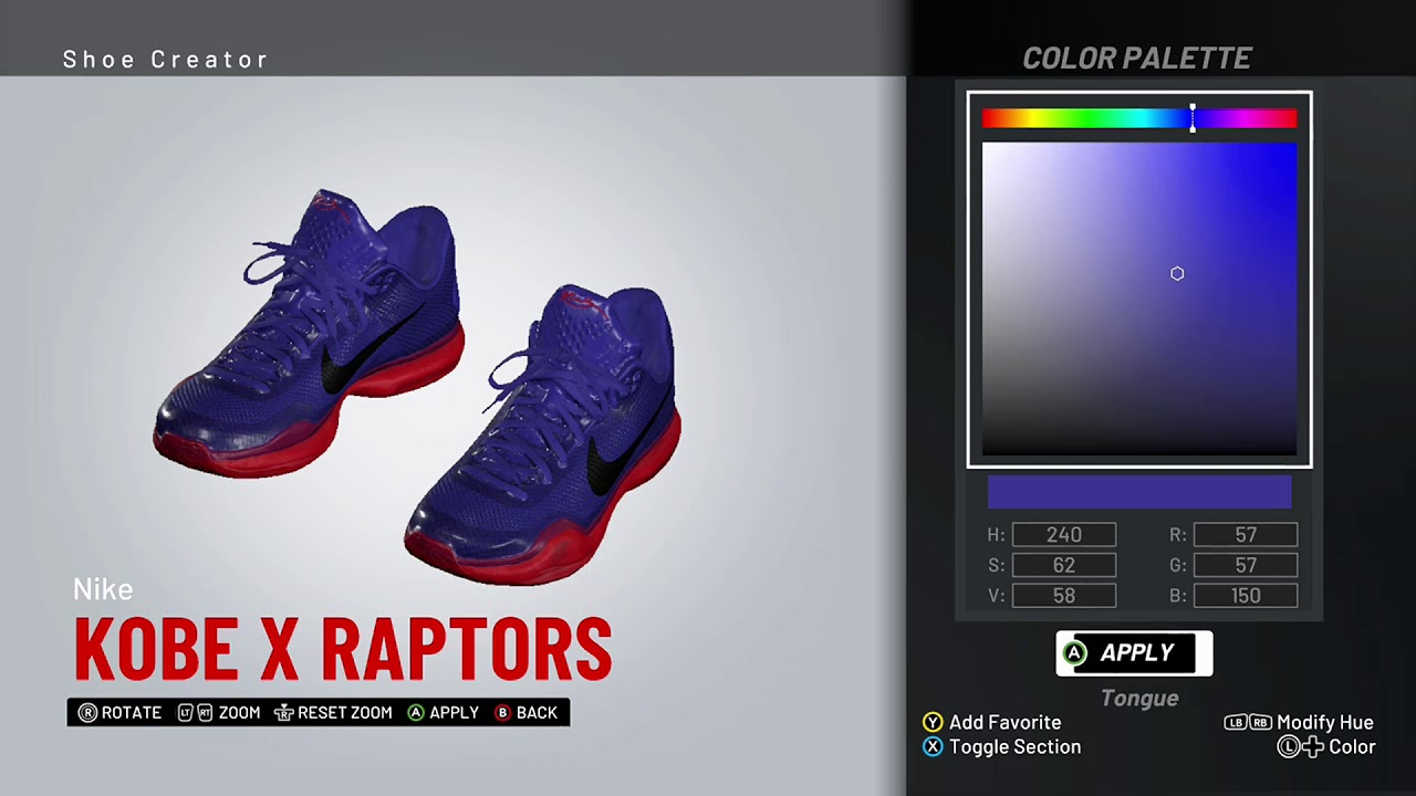 hot sales ba7d0 4fcb5 NBA 2K19 Shoe Creator - Nike Kobe 10 Custom