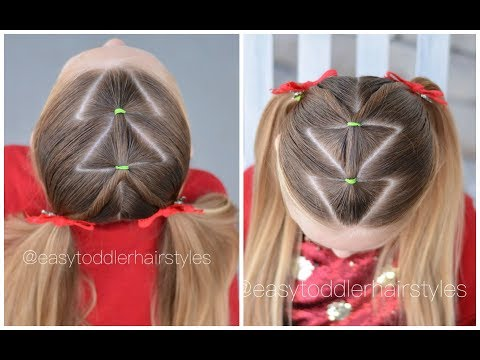Easy Christmas Tree Hairstyle thumbnail