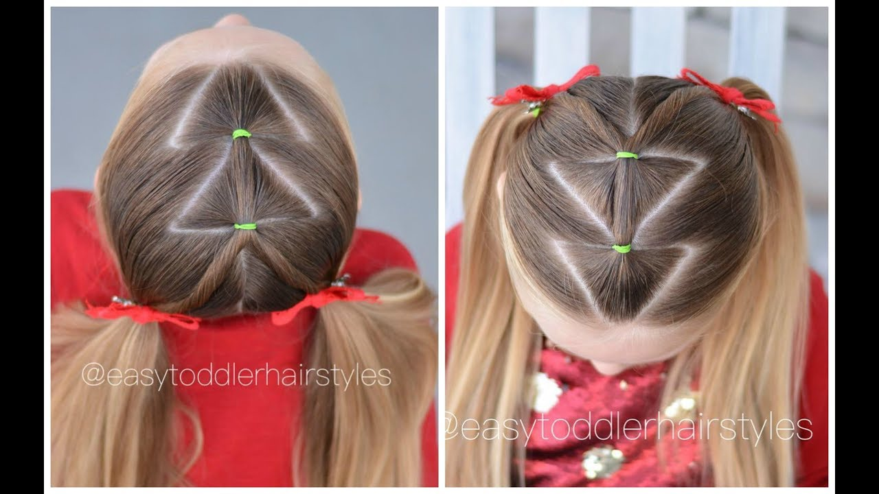 Christmas Hairstyles Easy.Easy Christmas Tree Hairstyle