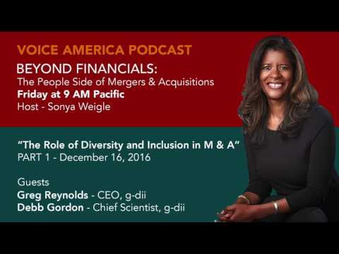 PART 01 - VOICE AMERICA - BEYOND FINANCIALS: The People Side of M&A.