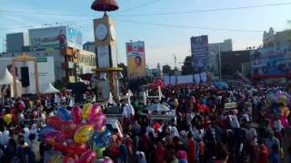 Jalan sehat dalam rangka memperingati Hut Kota Bandar Lampung Ke 335 di Tugu Adipura Minggu (7/5)