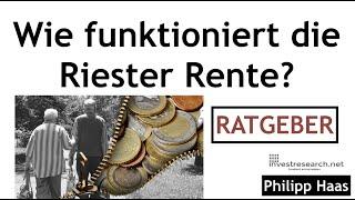 Wie funktioniert Riester Rente? Was ist der beste Riester Fondssparplan?