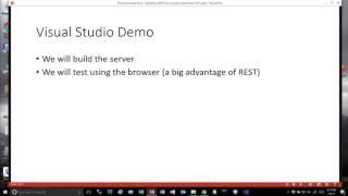 بقية مقدمة - بناء بقية الخدمات في Visual Basic Visual Studio عام 2017 الجزء 1