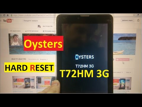 Hard Reset Oysters T72HM 3G Сброс графического ключа Oysters T72hm 3g