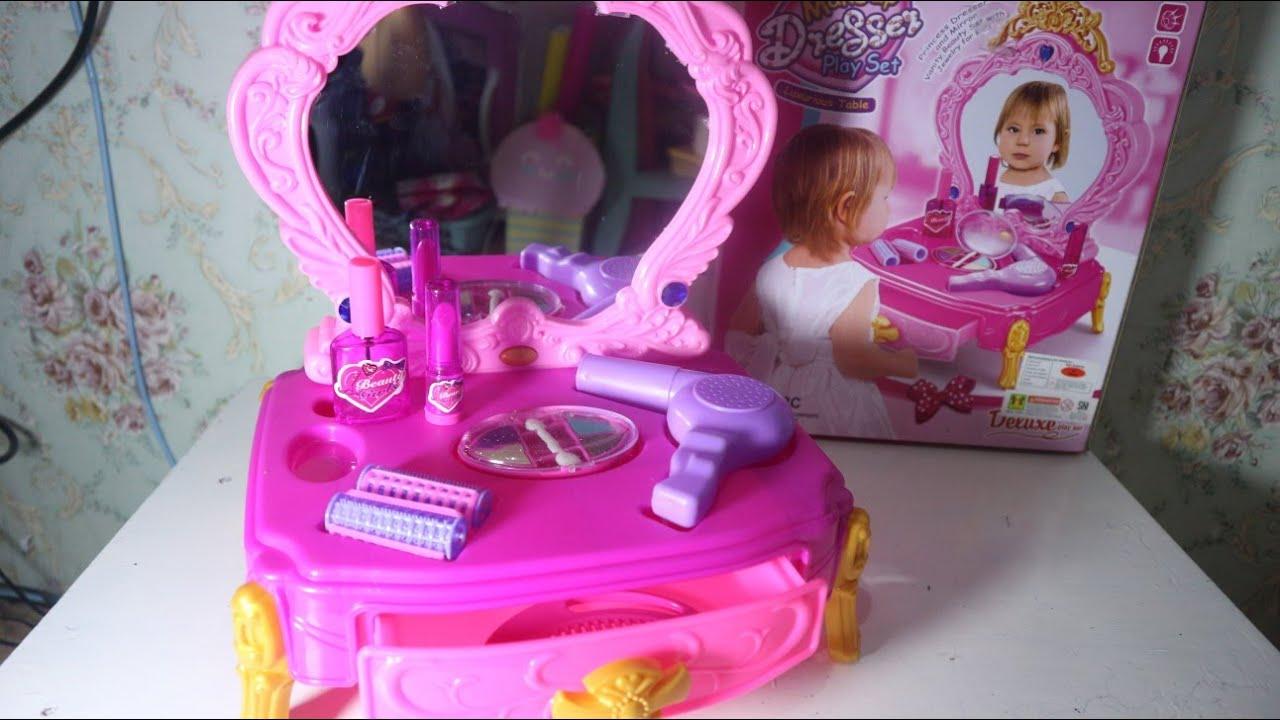 Unboxing Mainan Meja Rias Makeup Anak Makeup Dresser Play Set Luxurious Table Youtube