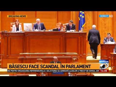 Traian Băsescu,  schimb de replici cu președintele Senatului, Călin Popescu Tăriceanu