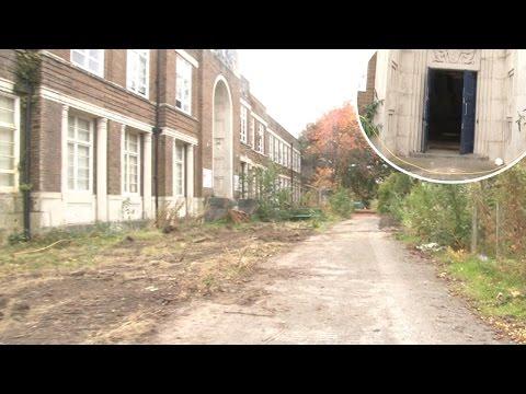 B Roll - Walk around abandoned Rock Ferry High School on Wirral, Merseyside
