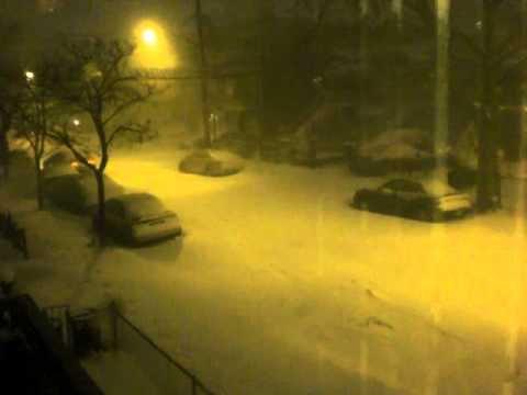 Snow and Wind in Canarsie, Brooklyn