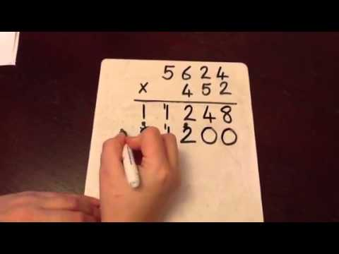 Column Multiplication - 4 digit by 3 digit