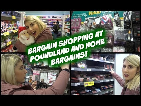 Bargain Shopping at Poundland, Iceland and Home Bargains