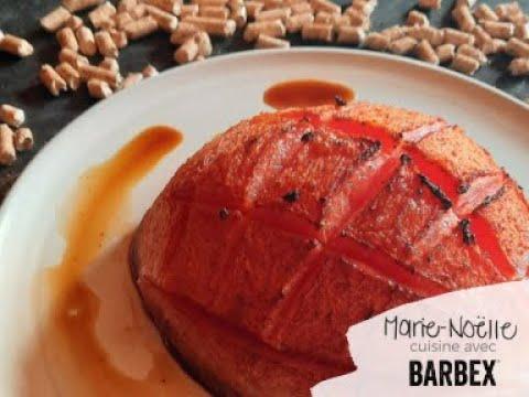 Recette BBQ Melon fumé BARBEX façon jambon - granules bois d'érable à sucre