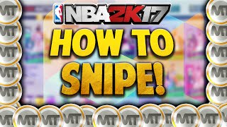 NBA 2K17 MyTeam How To Snipe On The Auction Block! BEST WAY TO MAKE MT!