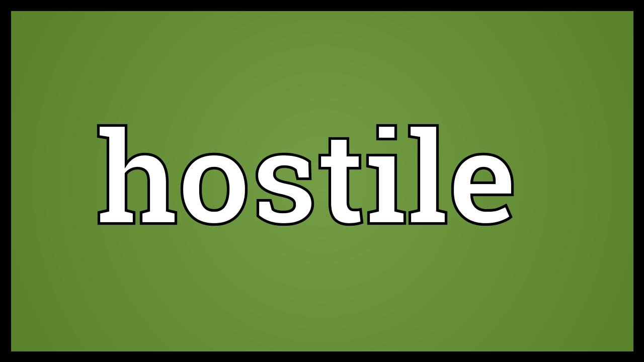 hostile meaning tilde ignoble