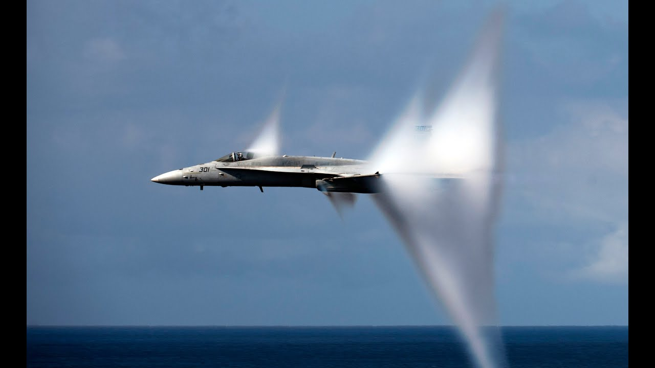 ARMY Plane BREAKS Sound Barrier - Creating a Sonic Boom ...
