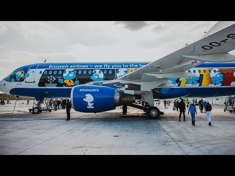 BRUSSELS AIRLINES - ECONOMY | YEREVAN TO BRUSSELS | AIRBUS A320 WITH SMURFS LIVERY | LOUNGE ACCESS