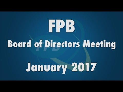 FPB Board of Directors Meeting January 2017