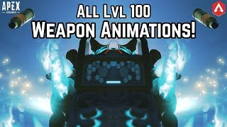 All Season 1-3 Level 100 WEAPON ANIMATIONS In NIGHTMODE! Apex Legends Battlepass